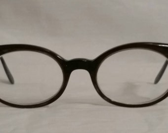 1968 vintage cat eye glasses, bifocals, Belle Himes