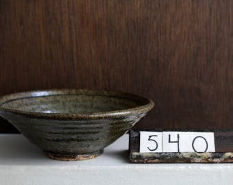 Green Celadon Stoneware Bowl / Floral Green Bowl / Groggy Stoneware Dish / One Of A Kind Bowl / Celadon Pottery Bowl / Thrown Dish / #540