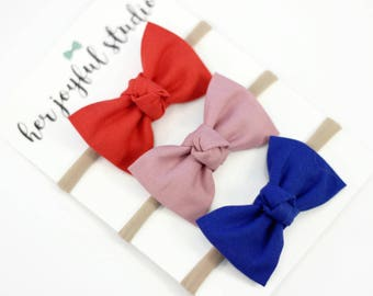 Baby Headband, Bow Headband Set, Baby Bow Headband, Baby Girl Bow Headband, Fabric Bow Headband, Baby Headband Set, Baby Accessories,
