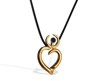 Elegant Gold Heart Pendant for Women, Handcrafted Love Necklace, Special Gift  for Women, BFF Minimal Pendant, Gift for Mom, Heart Symbol