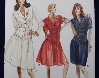 1980's Dress Sewing Pattern in Size 12-14 - Vogue 7273