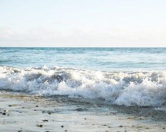 "Ocean Photography, Seashore, Coastal Print, Beach Photography, Ocean Waves, Nautical , Beach Bedroom Art, Coastal Blue Decor ""Beach Crush"""