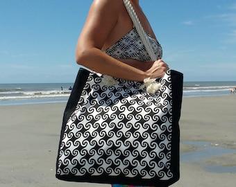 Waterproof Beach Bag - Waterproof Lining - Pool Bag - Large Beach Bag -