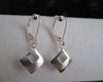 Bright Sterling Silver Earrings
