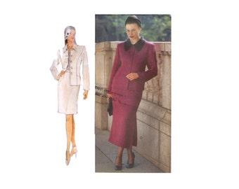 Unbeschnittenen Vogue 9932, 90er Jahre Schnittmuster Muster, Größe 20W-24W  Damen Jacke,