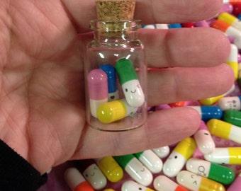 Pastel Goth Fairy Kei Valentine Happy Pills Love Pendants