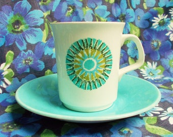 Retro Coffee cup and Saucer - 1960's - Aztec from Studio Range - J & G Meakin - Used