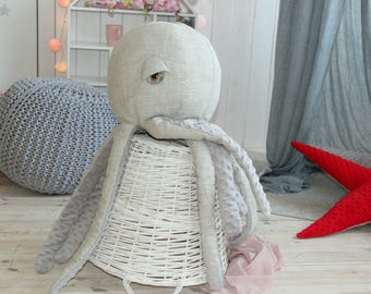 Pillow Octopus grey