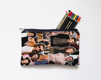 Harry Styles One Direction Zipper Pouch, Pencil Pouch, Pencil Case,