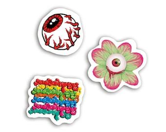 Eyeball flower graffiti decal vinyl stickers for laptops