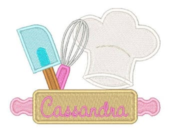 Kitchen Chef Embroidery Design  Utensils Embroidery Designs Filled Stitch Custom Embroidery 4X4 5X7 8X8 6X10, Instant Download