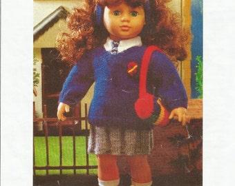 Dolls School Uniform Knitting Pattern.