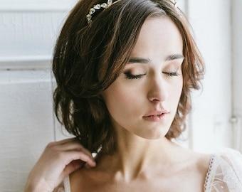 Victoria | Crystal Arch headpiece, art deco, crystal headband, bridal headpiece, vintage tiara rhinestone tiara, gold regal headband