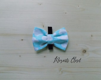 Cloudy Dog Bow Tie