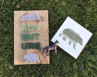 Adventure String Art-Personalized Gifts-Home Decor