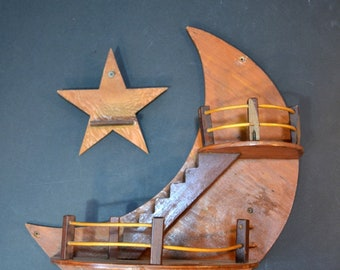 Stairway to the Moon and Star Wall Decor 3 Dimensional Wall Art