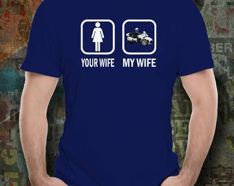 your wife simple my wife ride Spyder shirt