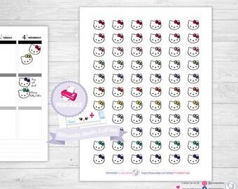 HELLO KITTY stickers hello kitty planner stickers kawaii erin condren planner stickers happy planner stickers printable stickers planner