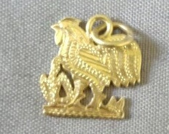 24 K gold rooster charm