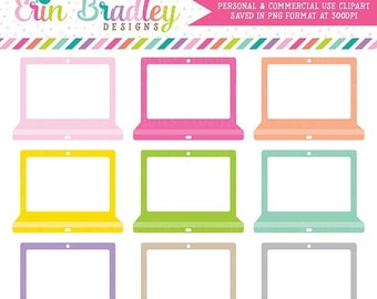 80% OFF SALE Instant Download Clipart Laptop Graphics for School or Work