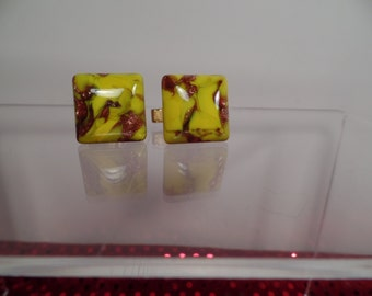 Murano Glass Cuff Links 1950's