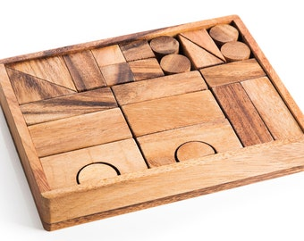 Building Block Set - Natural Wood Toy, Montessori Toy, Educational Toys, Wooden toy, Wood Toy, Waldorf Toy, Toy for kids