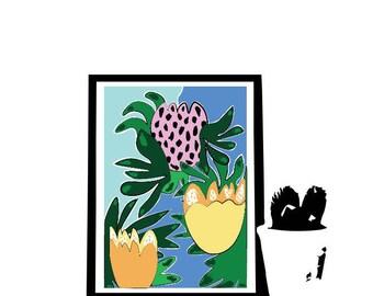 Floral graphic design print IV