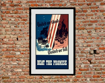 Reprint of a US WW2 Propaganda Poster