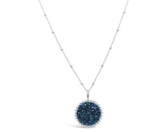 Iolite Blue Druzy Neckace, Druzy Jewelry, Drusy Necklace, Drusy Jewelry, Druzy Quartz Necklace, Bridesmaid Jewelry, Bridesmaid Necklace