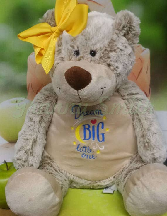 """BEAR *EXTRA LARGE* and extra plush Brown bear Customize & personalize a 16"""" stuffed animal stuffie. Embroidered how you want!"""