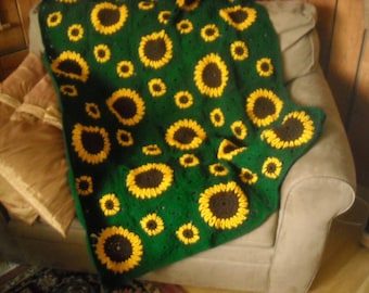 Pattern for Sunflower Afghan