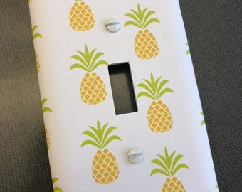 Simple Pineapple Lightswitch Plate