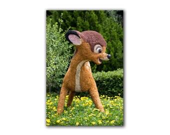 Disney nursery decor, Disney nursery art, Bambi, topiary, boys room, girls room, childs room, baby shower, EPCOT Flower Garden Festival