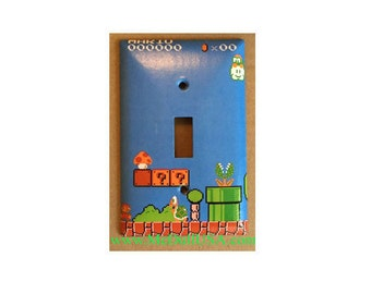 Super Mario Brothers Games Toggle, Rocker Light Switch U0026 Power Duplex  Outlet Cover Plates Home