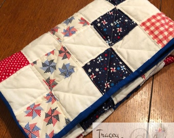 Baby Quilts Handmade, Patchwork Quilt, Custom Quilt, Nursery Quilt, Baby Keepsake, Quilted Baby Blanket, Gift, Stroller Quilt, Lap Quilt
