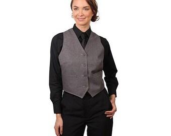 Women's Heather Grey Full back dress vest