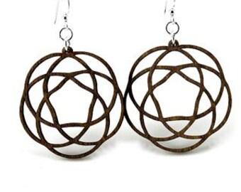Keltic Knots - Laser Cut Wood Earring