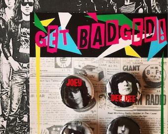 Ramones set of four 1 inch badge set