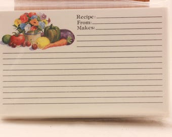 "NEW!!!! Vintage ""Vegetables""  2 Packages of 60 Recipe Cards. Sealed"
