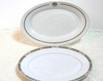 Vintage Serving Platters, The New Hanover, John Wanamaker and Victoria, Czecho-Slovakia