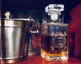 Crystal Decanter, Glass Decanter, Blank Decanter, Whiskey Decanter, Bourbon Decanter, Scotch Decanter, Classic Decanter, Barware, Wedding