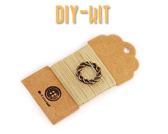 Jewelry making Kit - DIY Kit - gift kit - Crochet bracelet - DIY gift - stainless steel - DIY Jewelry - Crochet jewelry - diy crafts