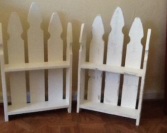 Picket fence wall shelf