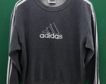 Vintage Adidas Sweatshirt Embroidery Logo Sports Wear Streetwear Pull Over Crew Neck Sweater Size L
