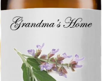 Clary Sage Oil - 5 mL+ -  5mL+ - Grandma'sHome 100% Pure and Natural Theraputic Aromatherapy Grade Essential Oils