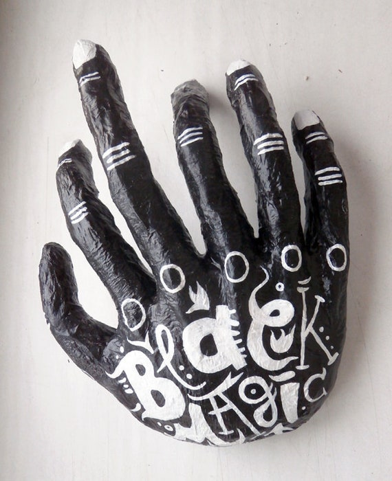 Black magic claw hand sculpture anatomy human body