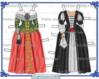 Printable Paper Doll - Dorothy Savie Additional Costumes