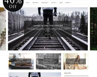 40% OFF! Aspect - WordPress Blog Theme - Minimal WordPress theme - Responsive WordPress theme - Website template