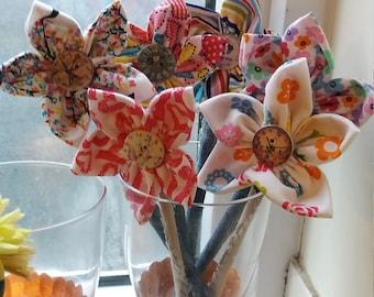 Home made, hand sewn daisys