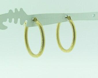 Vintage 14 K gold hoop earrings